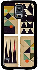 Akna Retro Floral Samsung Galaxy S5 Case Durable Protective Case for Black Cover Skin - Compatible With Samsung Galaxy S5 SV i9600