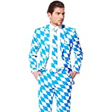 OppoSuits Bavarian Suit with Fun Colors and Prints - Full Set: Jacket, Pants and Tie