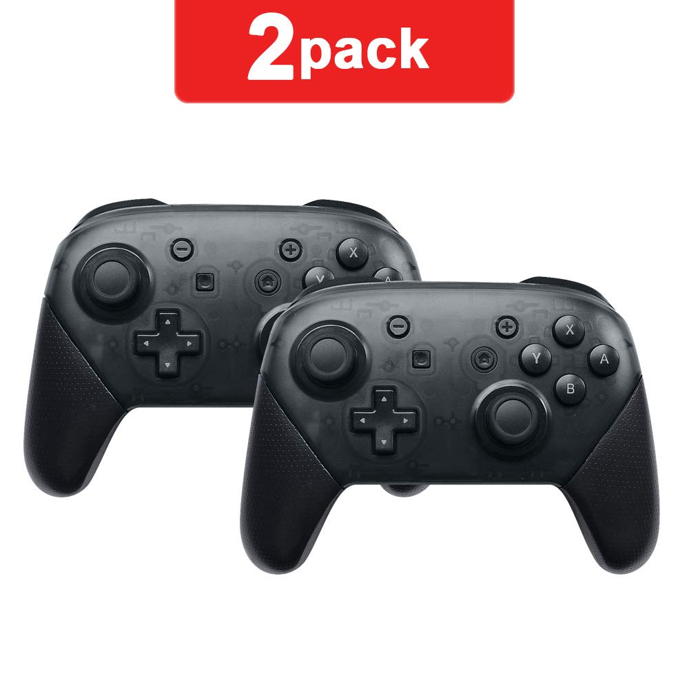 Switch pro Controller,Wireless Controller Compatible for Nintendo Switch (Black 2 Pack)