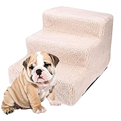 WOOKRAYS Easy Step III Pet Stairs 3 Step for Cats/Dogs Animal Bed Steps Ladder