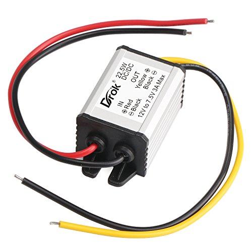 DROK Buck Voltage Reducer Converter 12V to 7.5V 3A/22W Step-down Power Module DC/DC Voltage Transformer Regulator Power Supply Board for LED Display Radio by DROK