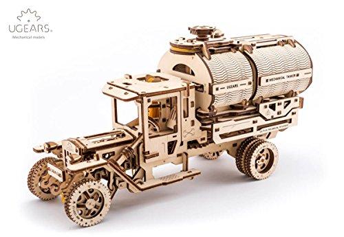 S.T.E.A.M. Line Toys UGears Mechanical Models 3-D Wooden Puzzle - Mechanical Tanker Truck