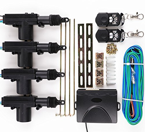 XYZCTEM Power Central Lock Kit Car Remote Control Conversion,Take with 2 Keyless (Door Lock Actuator Installation)