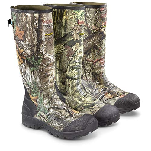 Boot Edge Ankle - Guide Gear Men's Ankle Fit Insulated Rubber Boots, 1,600-gram, Realtree Edge, 12D (Medium)
