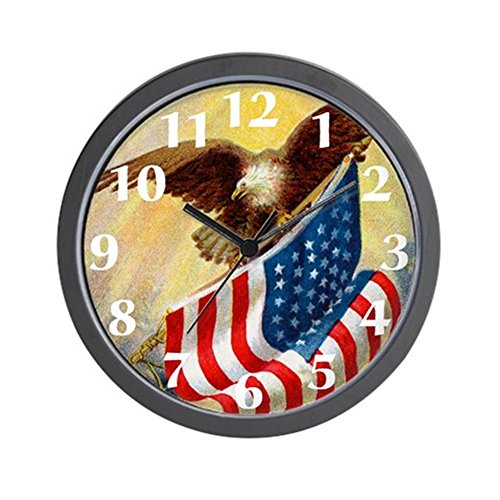CafePress - American Flag Clock - Unique Decorative 10