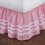 Levtex home Ruched Bed Skirt, Full, Pink