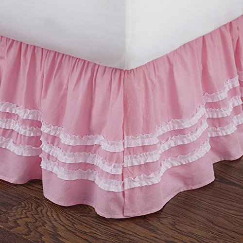 Levtex home Ruched Bed Skirt, Full, Pink by Levtex home