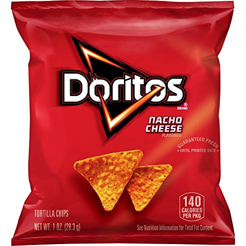 Doritos Nacho Cheese Flavored Tortilla Chips, 1 oz (Pack of 40)