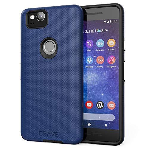 Google Pixel 2 Case, Crave Dual Guard Protection Series Case for Google Pixel 2 - Navy