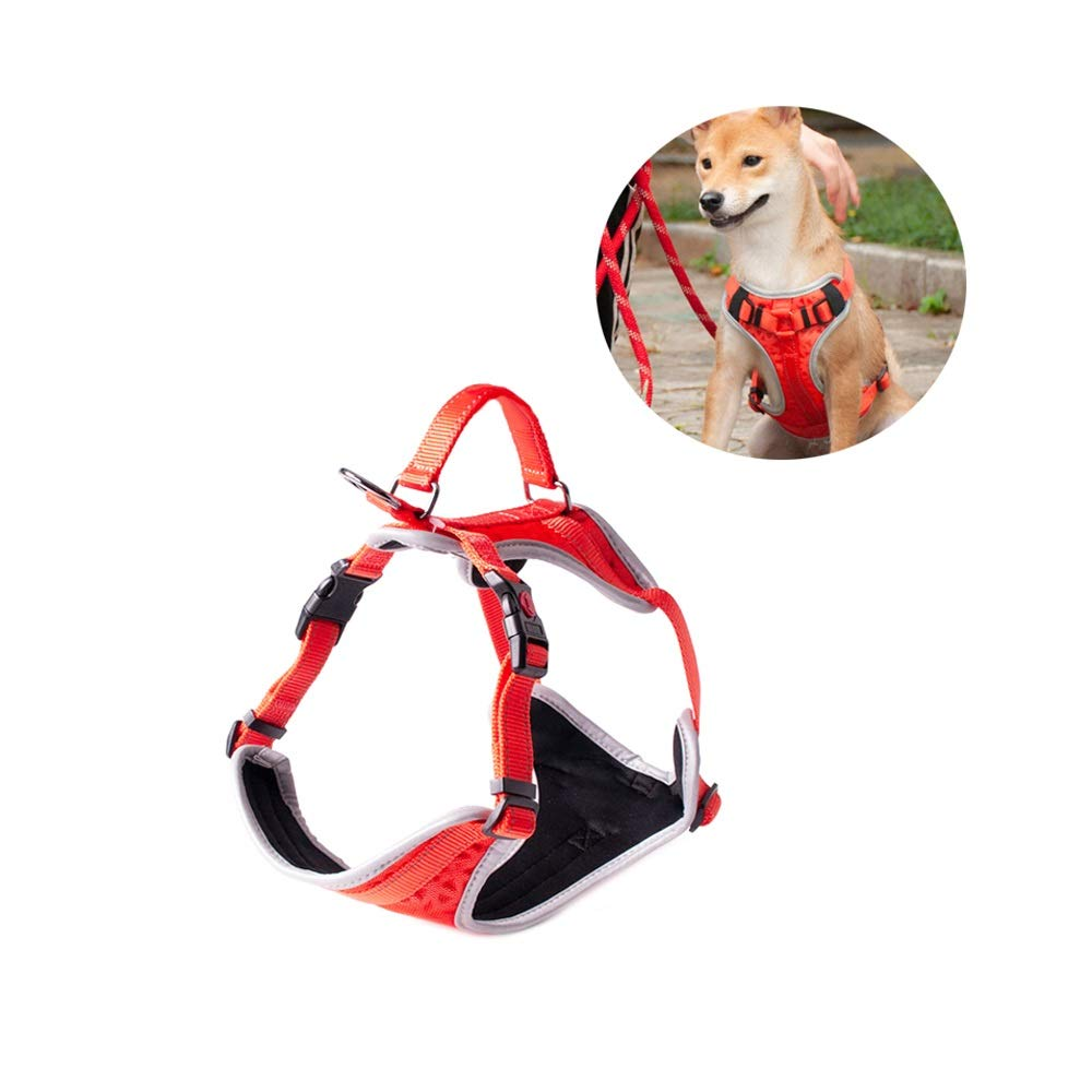 Red X-Small Red X-Small Dog Harness with Hook and Loop Straps and Handle   Available in 5 Sizes from XS to XL   Vest Features 3M Reflective Patch and Comfortable Mesh Design (color   Red, Size   XS)