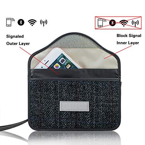 CigaMaTe Faraday Bag Cell Phone, Harris Tweed GPS RFID Signal Blocking Bag Car Key Fob Protector Pou - http://coolthings.us