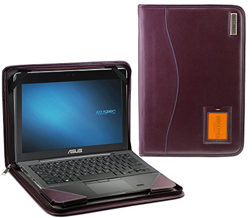 Broonel - Contour Series - Purple Heavy Duty Vegan Leather Protective Case Cover for the ASUS VivoBook A540 15.6