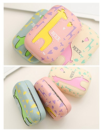 Travel Portable Cute Deer Animal pattern Contact Lens Case Eye Care Kits Holder with Mirror Mini (C2) by Jusxout (Image #4)