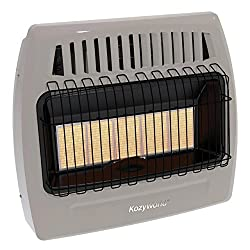 Kozy World Kwn521 30000 Btu 5 Plaque Natural Gas Infrared Vent Free Wall Heater