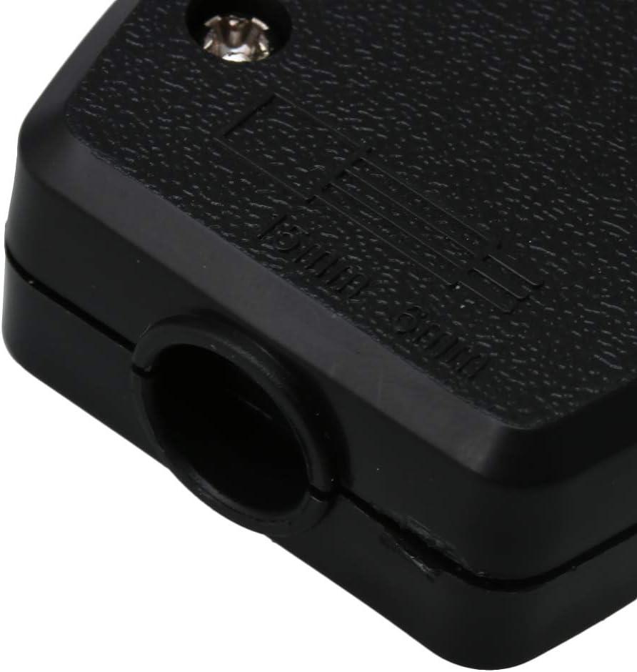 BQLZR Bo/îte de d/érivation en plastique noir r/ésistant aux temp/ératures /élev/ées 13 A 250 V