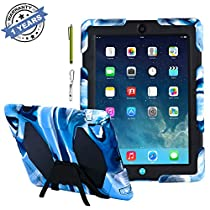 Ipad Case, Ipad 2/3/4 Case, Aceguarder® Design New Snowproof Rainproof Dirtproof Shockproof Cover Case with Stand Super Protection for Ipad 2/3/4 (Navy/Black)