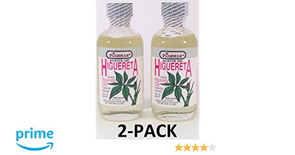 Amazon.com : Aceite De Higuereta 2 Oz. Castor Oil (Aceite Ricino) 2-PACK : Beauty