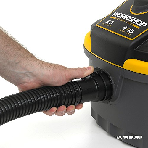 WORKSHOP Wet Dry Vacuum Accessories WS17820A Wet Dry Vacuum Hose, 1-7/8-Inch x 7-Feet Locking Wet Dry Vac Hose for Wet Dry Shop Vacuums by WORKSHOP Wet/Dry Vacs (Image #2)