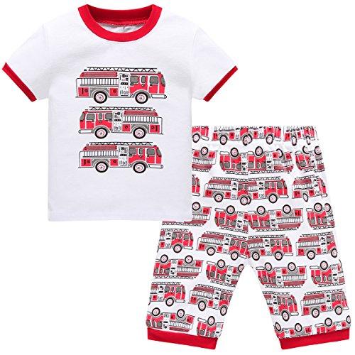 Hugbug Boys Pajamas with Trucks for Toddler and Kid Boys 3T
