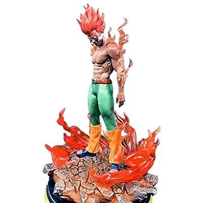 WerNerk Anime Naruto Action Figure Uzumaki Naruto & Hatake Kakashi & Uchiha Itachi & Namikaze Minato Vinyl Figure Collectible PVC Figure for Anime Fans( Might Guy): Toys & Games