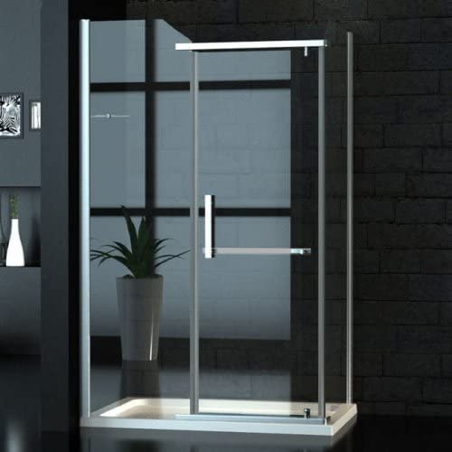 Zelsius – Ancho Cristal cabinas de ducha/Mampara de 90 x 120 cm: Amazon.es: Bricolaje y herramientas