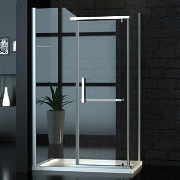 Zelsius – Ancho Cristal cabinas de ducha/Mampara de 90 x 120 cm ...