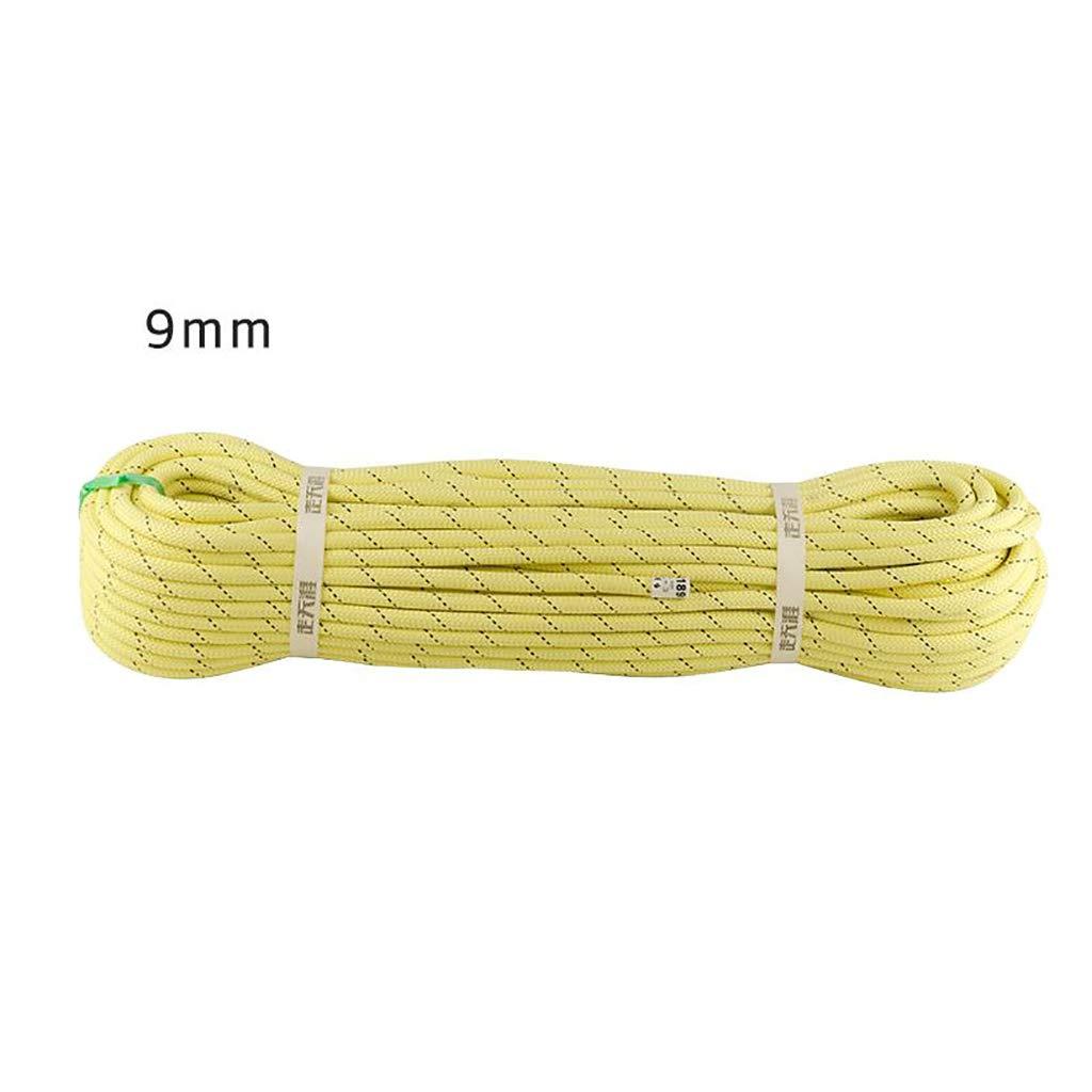 【爆買い!】 ロープ(張り綱) クライミングロープ速度低下ロープ静的ロープケブラー耐摩耗性 さいず 200m)、高温耐性、難燃性安全ロープ9mm長さ10/20 20m/30/50/60100/150/ 200m黄色 (サイズ さいず : 200m) B07K4XB3TR 20m 20m, キタヤマムラ:1d28cb4d --- realcalcados.com.br