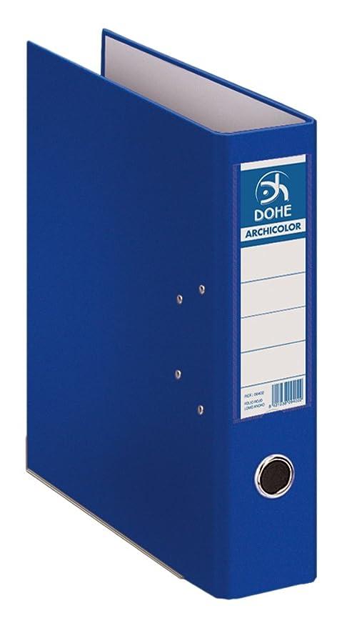 Dohe Archicolor - Archivador folio lomo ancho, color azul: Amazon.es: Oficina y papelería