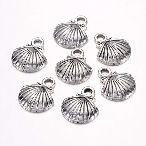 - Craftdady 50PCS Tibetan Style Antique Silver Sea Shell Shape Alloy Pendants Charms Jewelry Making Supplies, Lead Free & Cadmium Free, 14x11.8x2.8mm
