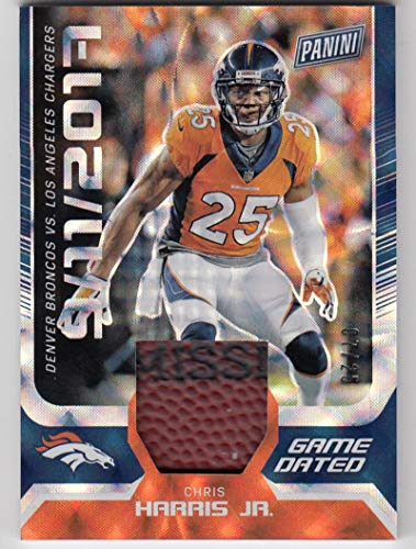 2018 Panini Day Game Used Football #GO-CH Chris Harris Jr #GO-CH NM Near Mint MEM 7/25 from Day Game Used Football