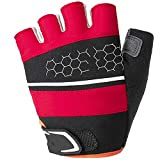 ZPWSNH Gloves Outdoor Equipment Unisex Soft Breathable Cycling Gloves Riding Gloves Ridding Gloves (Color : Red)