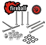 Fireball Dragon Stainless Steel Skateboard Hardware Set (Button Allen, 2.5'')