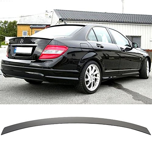 (Pre-painted Roof Spoiler Fits 2008 2009-2014 Benz W204 C-Class | Factory Style ABS Painted Matte Black Rear Wind Visor Spoiler Wing By IKON MOTORSPORTS | 2009 2010 2011 2012 2013 )