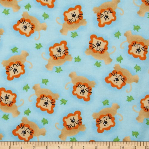 flannel-tossed-lion-blue-fabric