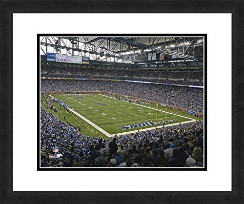 NFL Detroit Lions Ford Field, Beautifully Framed and Double Matted, 18