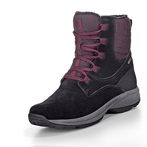 Earth Waterproof J310555C Winter Artica Dark Brown Jovilee Boots Lining Silver Merrell Black Shoes xqBwan0