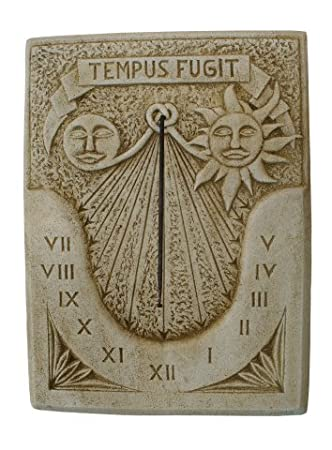 CATART Reloj DE Sol EN Piedra Pared Exterior Tempus FUGIT 60X80cm.: Amazon.es: Jardín