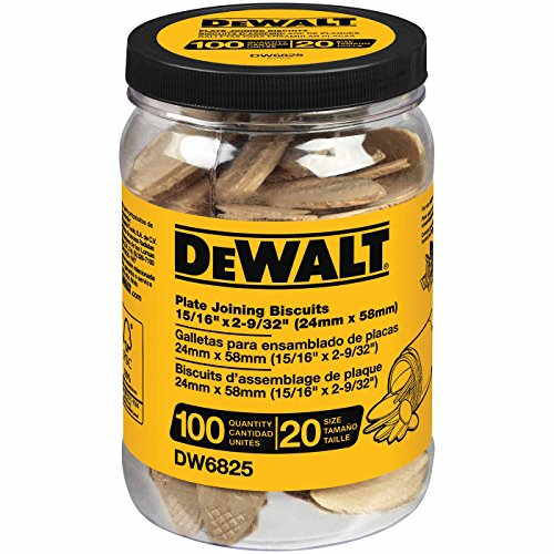 DEWALT DW6825 No. 20 Size Joining Biscuits (Tub of 100 ()
