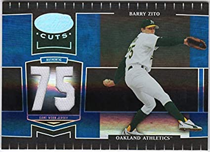 buy popular 14569 437e4 Amazon.com: Barry Zito 2004 Leaf Certified Cuts Jersey Card ...