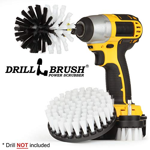 Car – Cleaning Supplies – Drill Brush – Soft Bristle Detailing Scrub Brush Kit – Kayak – Boat – Car Wash – Tires, Wheels and Rims – Interiors – Seat, Carpet, Upholstery, Vinyl, Fabric, Leather Cleaner