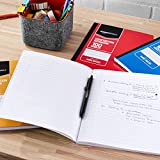 AmazonBasics Wide Ruled Composition Notebook, 100