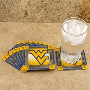 Paper kraft coasters west virginia university 8 absorbent drink coasters kitchen - Drink coasters absorbent ...