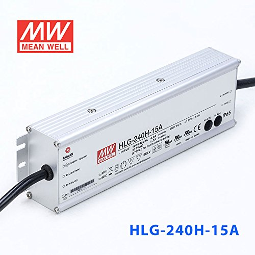 Meanwell HLG-240H-15A Power Supply - 230W 15V 15A - IP65 - Adjustable Output