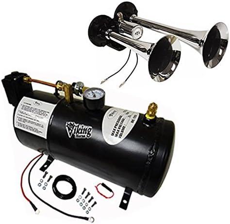 Viking Horns V3301//4008 Loud 142 Decibels 4 Trumpet Train Air Horn Kit