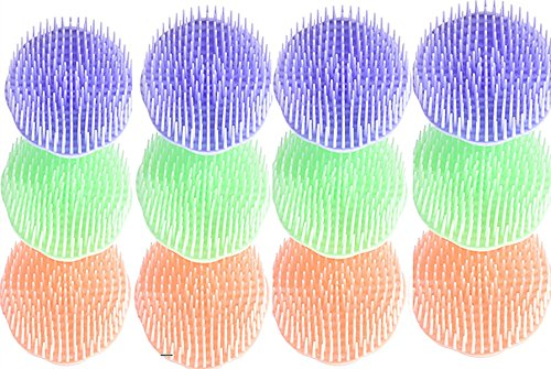 TECH-P® Popular Shampoo Scalp Hair Head Massage Brush Massager-12 Pack
