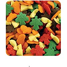 Oasis Supply Halloween, Fall, and Thanksgiving Sprinkle Shaped Cake Topper Quins, Harvest Quins, 6 Ounce