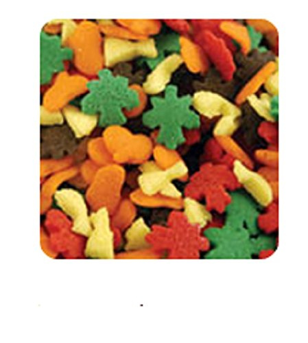 Oasis Supply Halloween, Fall, and Thanksgiving Sprinkle Shaped Cake Topper Quins, Harvest Quins, 6 Ounce]()