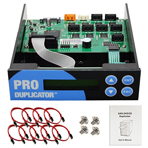 Produplicator 1-2-3-4-5-6-7 Blu-ray CD/DVD/BD SATA Duplicator Copier Controller + Cables Screws & Manual Optical Drive