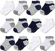 Flanhiri Baby Boys Toddler Non Skid Cotton Socks with Grip