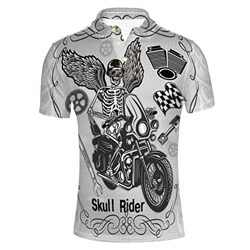 n Motorbike Rider Wings Drive to Hell T-Shirts ()